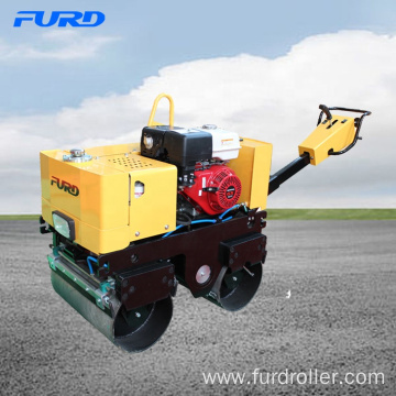 Small Hand Double Drums Vibratory Road Roller with High Quality