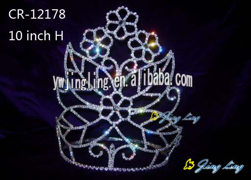 10 Inch Flower Beauty Pageant Crown