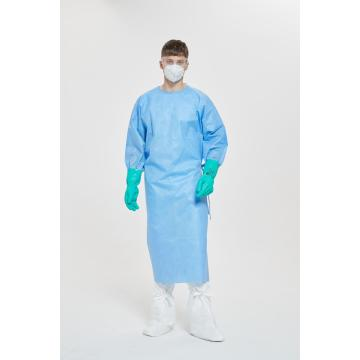 Disposable Non-woven Isolation Gown Blue Coverall