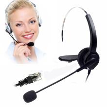 Corded Telephone Headset Rj9 for Landline Phones Call Center Noise Cancelling Telephone Headset Monaural Call Centere Headset