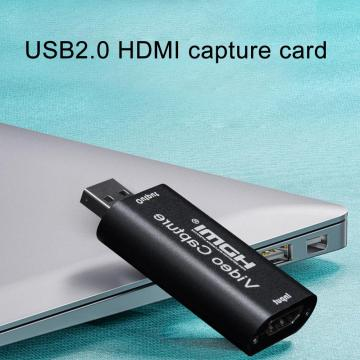 Mini 1080p Video Capture Card 4K Game Capture Cards HDMI to USB 2.0 Record Via DSLR Camcorder Camera for HD Live Streaming