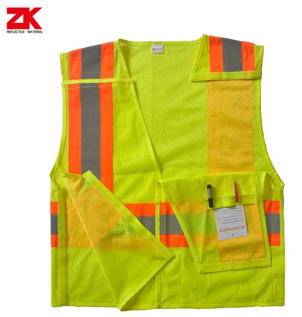 Road high visibility vest