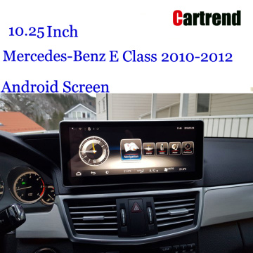 W212 Screen Android 10.25 Табрик барои Mercedes-Benz