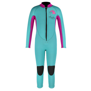 Seaskin Girls Blue Color Diving Neoprene Wetsuits