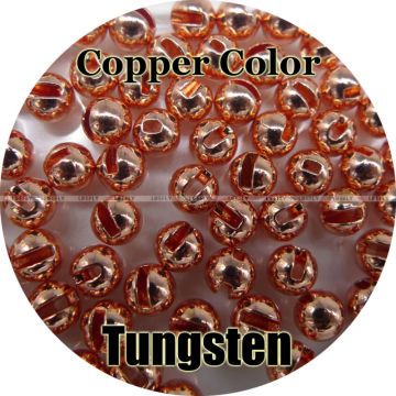 Copper Color, 100 Tungsten Beads, Slotted, Fly Tying, Fishing