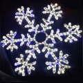 Commercial hanging decor merry christmas led snowflake