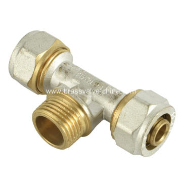 Brass compression Male tee coupling