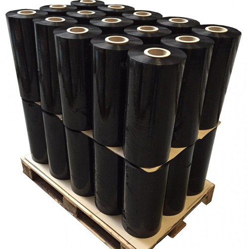 black plastic wrap stretch film