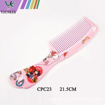 Plastic cute hair comb for kids