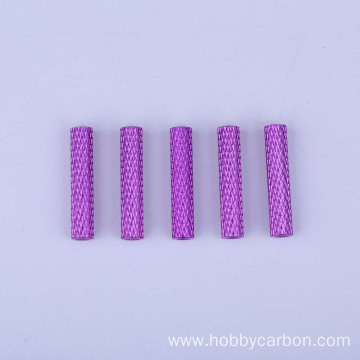 M3 Custom Hex Round Standoff knurled styles Hobbycarbon