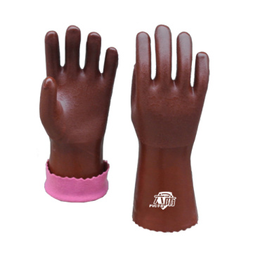 Brown Fishing PVC Coated Gloves