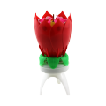 flower rotating music birthday candle