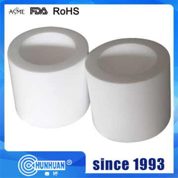 White Virgin PTFE Molded Tubing Pipe