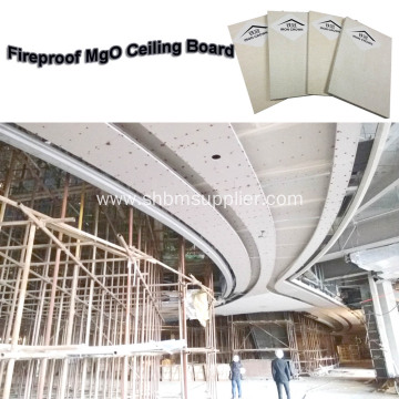 Fireproof Anti-Sink Toxin Free Ceiling Panel MgO Board