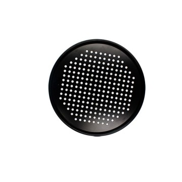 Round Perforated Steam Pan-Black