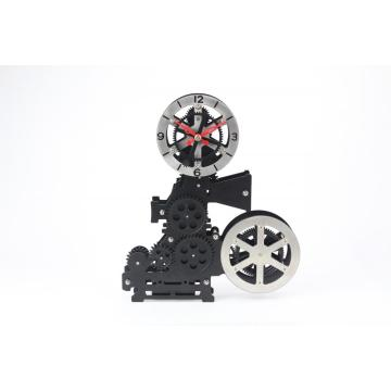 Metal Cinematography Machine Gear Desk Clock