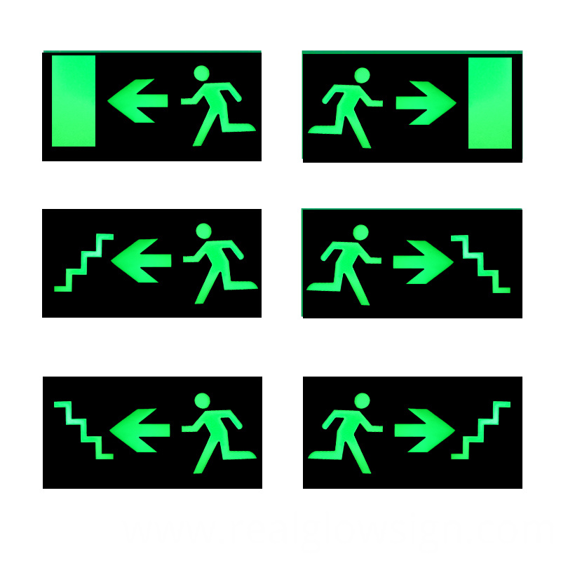 exit man step sign nigh color