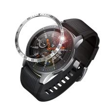 22mm 20mm Gear S3 frontier Metal case For Samsung Galaxy Watch 46mm 42mm band Metal Bezel Ring Adhesive case Anti Scratch Bezel