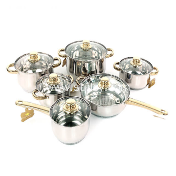 12 Piece Stainless Steel Cookware Sets