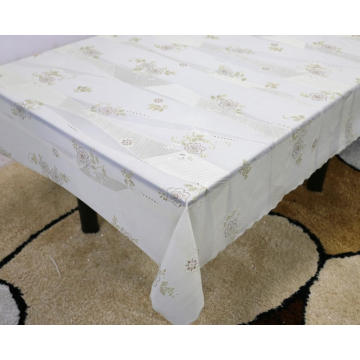 Printed pvc lace tablecloth by roll texas