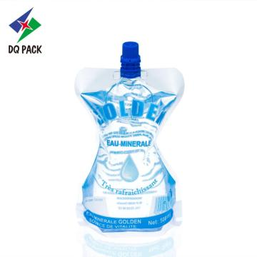 Custom printed plastic drink packaging bag spout pouch for water packaging