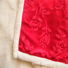 Embossed Short Plush with Velveteen Composite Blanket