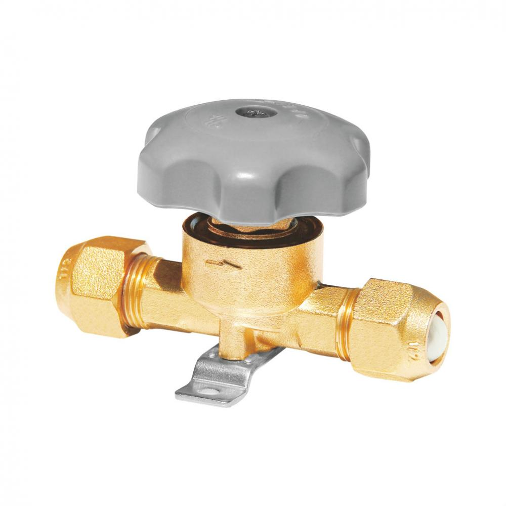 Refrigeration fitting hand valve