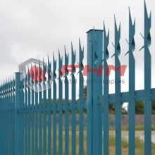 Residential Fence of Metal Steel Palisade Fencing