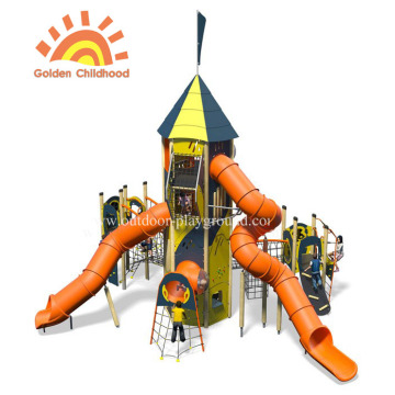 HPL Activity Tower Tube Slide Playground For Kids