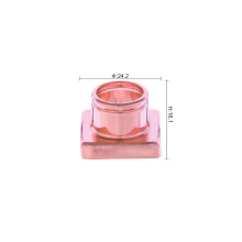 Square shiny golden perfume aluminum collar for cap