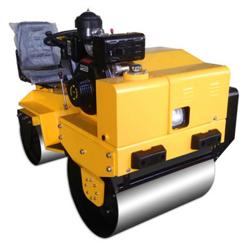 Small ride on double wheel road roller