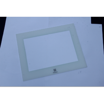 Cut size oven white door tempered glass