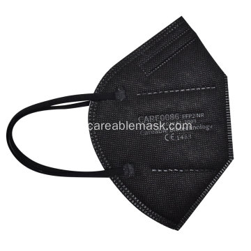 FFP2 Filtering Half Mask Folded-Flat CE Approved Black Color