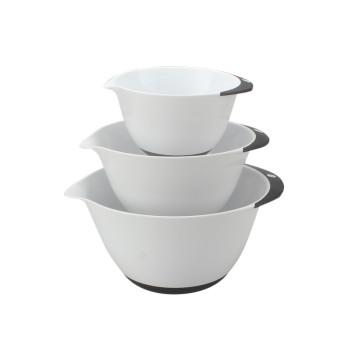 Nesting Mixing Bowls with Rubber Grip Handles