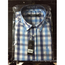 High quality cotton check shirt for men
