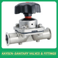 Hygienic clamp diaphragm valves manual operation