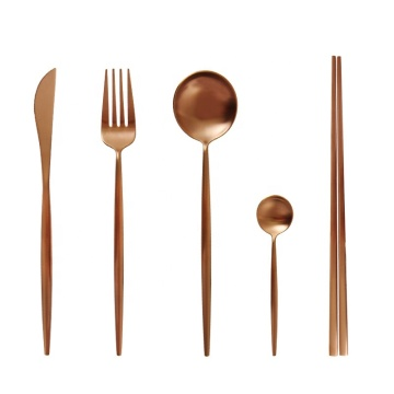 Luxury Royal Stainless Steel Rose gold PVD Cutlery