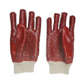 PVC glove heavy duty terry toweling linning