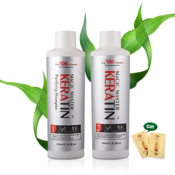 Natural coconut oil Keratin MMK Hair Treatment and Straighten Free Formalin 120ml Magic Master Keratin+120ml Purifying shampoo