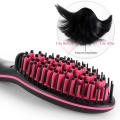 RUCHA Ceramic Hair Straightening Brush Comb Digital Electric Hair Brush Straightener Control 450F Fast Heating up Brushes