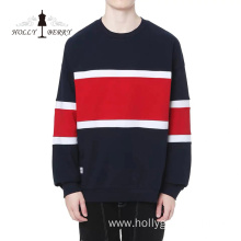 Customized Knitted 100% Cotton Black Red Men's Hoodies