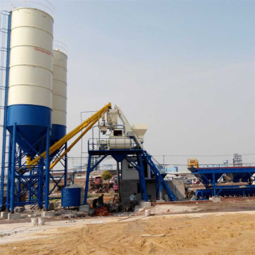 HZS75 fully automatic factory 75m3/h concrete mixing plant