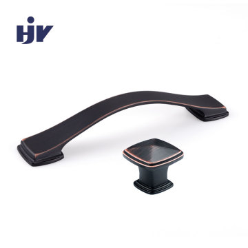 Bow furniture pulls Black nickel c shaped cabinet handles