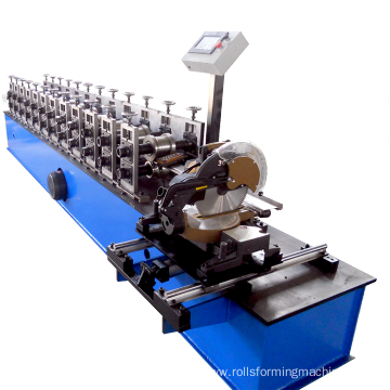Metal shutter door rolling machine