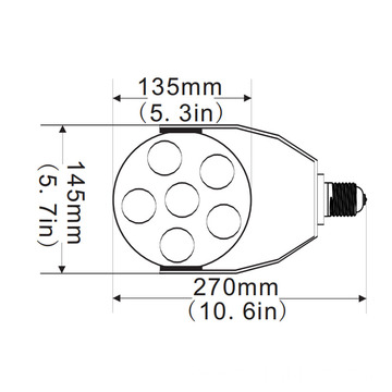 I-60W Led Retrofit Kits ye-Metal Malide 175W