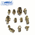 Customizable brass nozzle jet gas burner nozzle