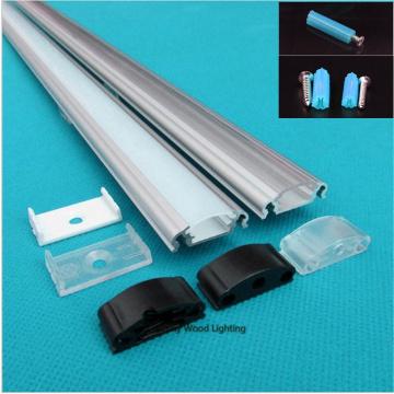 5-30PCS 40inch 1m led bar light , 12mm pcb led aluminium profile matte clear cover, aluminium channel for rigid strip