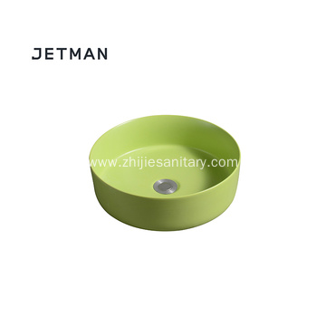 Greenery color sink art basin ceramic