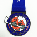 Custom soft enamel metal polar bear medal