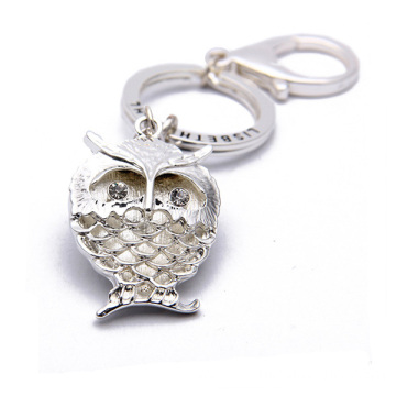 OEM Zinc Alloy Custom Metal Keychain Owl Metal Key Ring